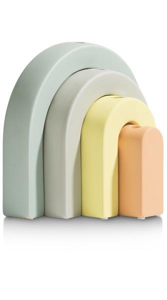 COCO maison Rainbow set van 4 vazen H28-24-20-15cm  Woonaccessoire