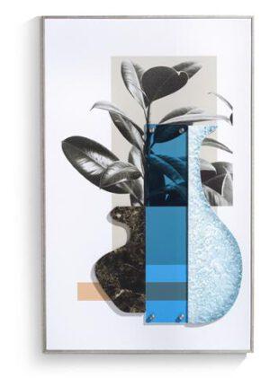COCO maison Seventies Blue schilderij 50x80cm  Schilderij