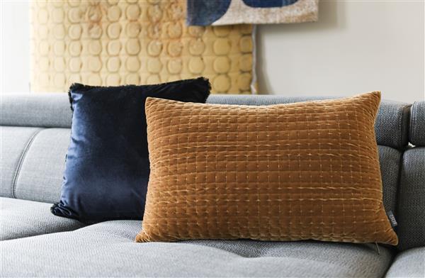 COCO maison Siri kussen 45x45cm - blauw  Sierkussen