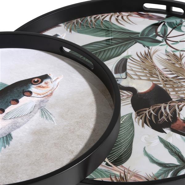 COCO maison Summer Jungle set van 2 bijzettafels H50-40cm  Woonaccessoire