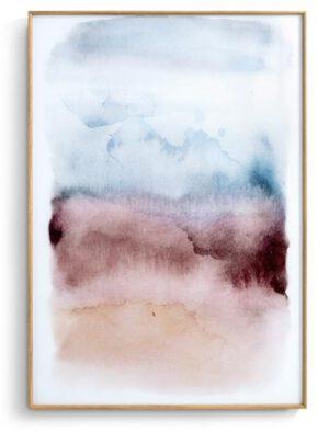 COCO maison Watercolor print 100x70cm  Schilderij