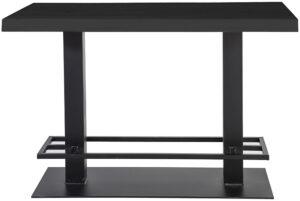 Countertafel - 140x80 zwart, uit de sfeervolle collectie van Eleonora. Eleonora staat voor trendy en origineel design met een industrieel, vintage en retro karakter. Deze prachtige bartafel is vervaardigd uit eiken hout & metaal. Afmeting: (hxbxd) 94x140x80 cm.