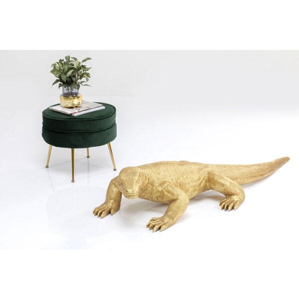 Kare Design Deco Beeld Komodo Dragon Gold 167cm deco 53033 - Lowik Meubelen