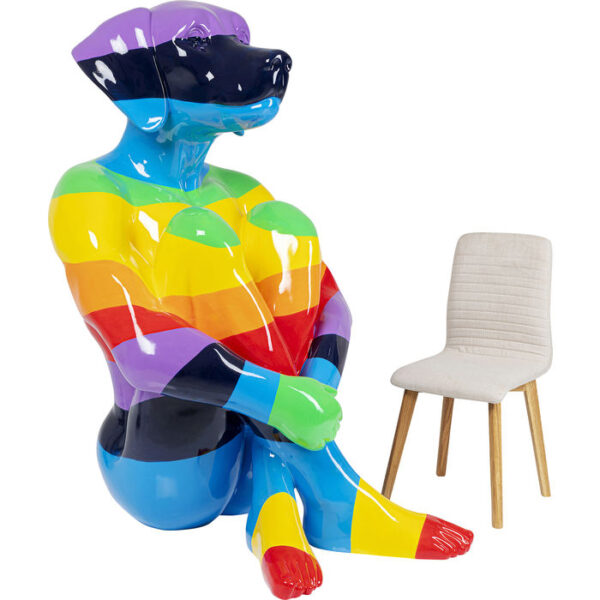 Kare Design Deco Beeld Sitting Dog Rainbow 173 deco 52882 - Lowik Meubelen