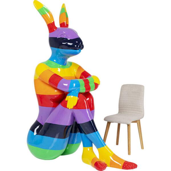 Kare Design Deco Beeld Sitting Rabbit Rainbow 203 deco 52879 - Lowik Meubelen