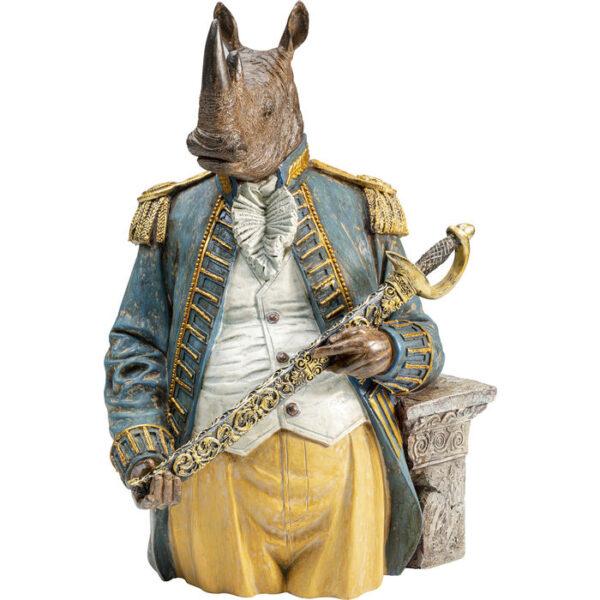 Kare Design Deco Object Angry Sir Rhino deco 52997 - Lowik Meubelen