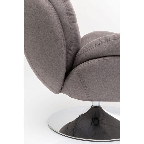 Kare Design Draaifauteuil Cosy Grey draaifauteuil 85527 - Lowik Meubelen