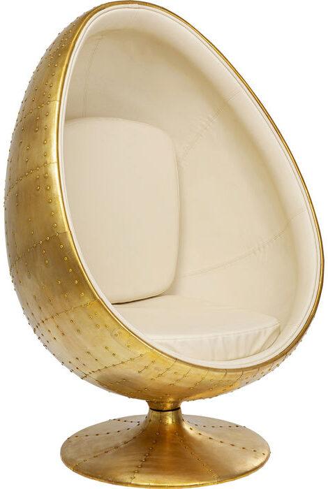 Kare Design Draaifauteuil Eye Ball Brass draaifauteuil 85299 - Lowik Meubelen