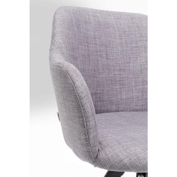 Kare Design Draaifauteuil Lady Loco Grey draaifauteuil 85250 - Lowik Meubelen
