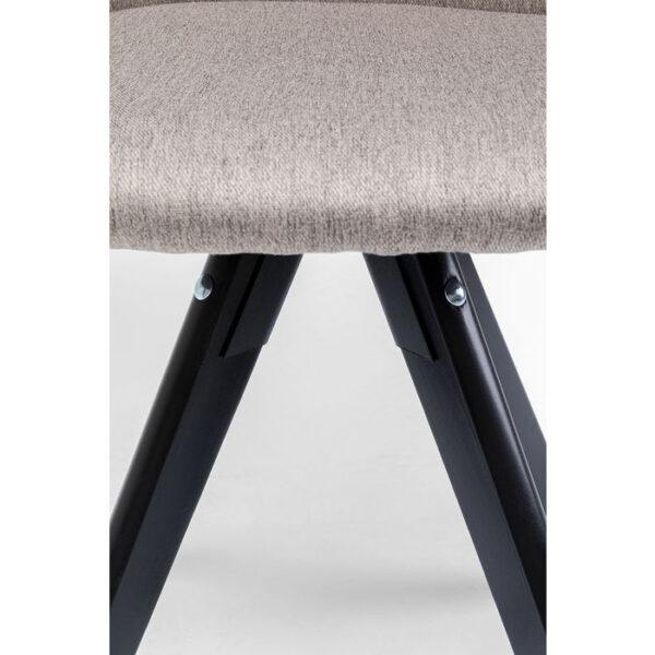 Kare Design Draaifauteuil Lady Loco Taupe draaifauteuil 85252 - Lowik Meubelen
