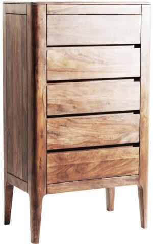 Kare Design Dressoir Hoog Brooklyn Nature 5 Drawers dressoir 81437 - Lowik Meubelen