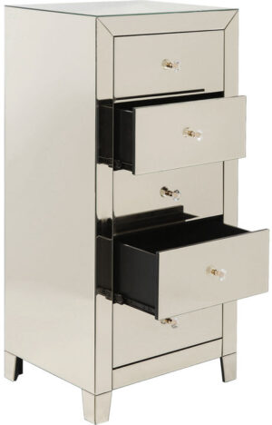 Kare Design Dressoir Hoog Luxury Champagne 5 Drawers dressoir 83893 - Lowik Meubelen