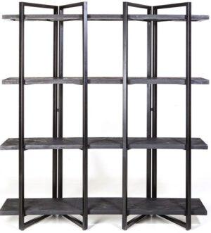 Eddy wandkast - hoog - zwart uit de Eleonora collectie