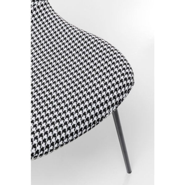 Kare Design Eetstoel Frida Black And White - (2/Set) eetstoel 85510 - Lowik Meubelen