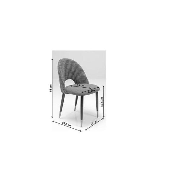 Kare Design Eetstoel Iris Velvet Blue - (2/Set) eetstoel 80083 - Lowik Meubelen