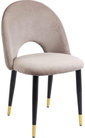 Kare Design Eetstoel Iris Velvet Taupe - (2/Set) eetstoel 80084 - Lowik Meubelen