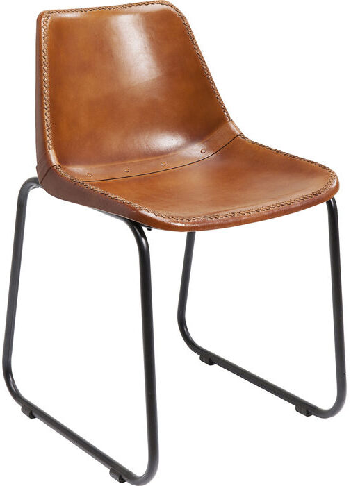 Kare Design Eetstoel Vintage Brown Leather eetstoel 77476 - Lowik Meubelen