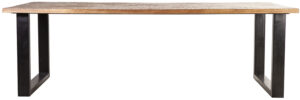 Eettafel Mango - 200x100, uit de sfeervolle collectie van Eleonora. Eleonora staat voor trendy en origineel design met een industrieel, vintage en retro karakter. Deze prachtige eettafel is vervaardigd uit mango hout & ijzer. Afmeting: (hxbxd) 76x200x100 cm.