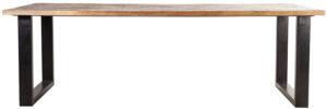 Eettafel Mango - 240x100, uit de sfeervolle collectie van Eleonora. Eleonora staat voor trendy en origineel design met een industrieel, vintage en retro karakter. Deze prachtige eettafel is vervaardigd uit mango hout & ijzer. Afmeting: (hxbxd) 76x240x100 cm.