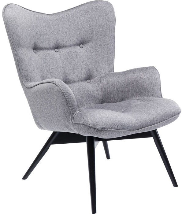 Kare Design Fauteuil Vicky Loco Grey fauteuil 85253 - Lowik Meubelen