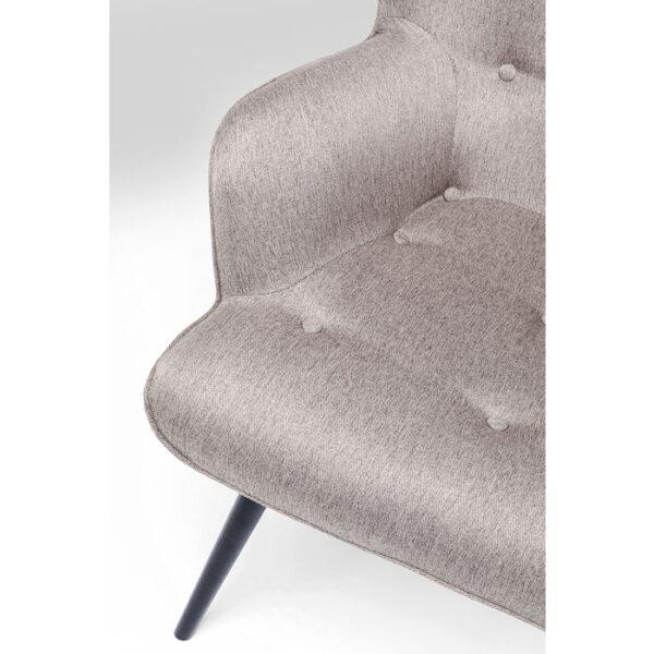 Kare Design Fauteuil Vicky Loco Taupe fauteuil 85255 - Lowik Meubelen
