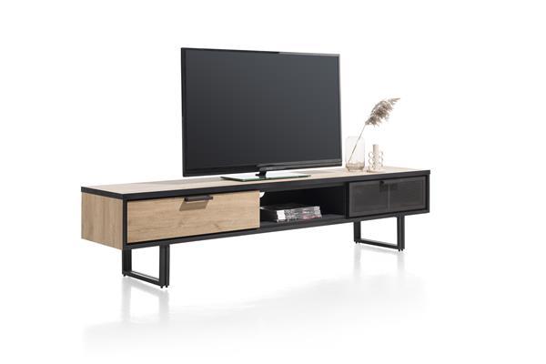 tv-dressoir 200 cm. - 2-laden + 1-niche Natural