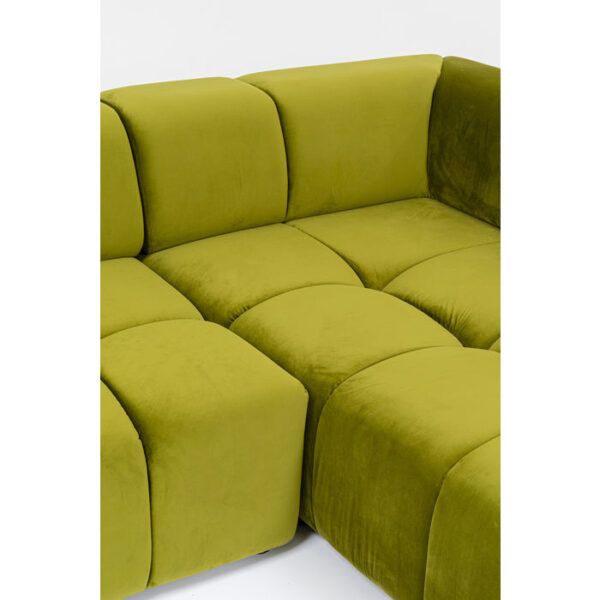 Kare Design Hoekbank Belami Green Right hoekbank 85496 - Lowik Meubelen