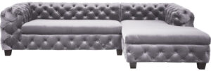 Kare Design Hoekbank Desire Velvet Grey R hoekbank 79892 - Lowik Meubelen