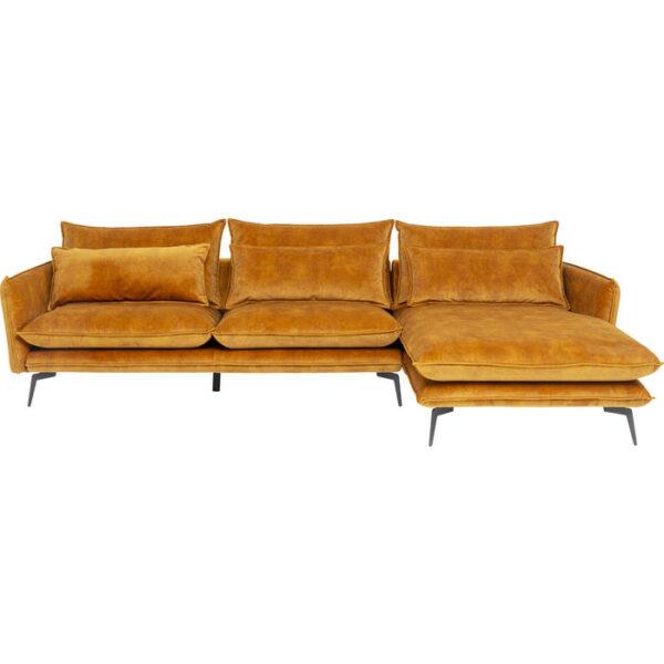 Kare Design Hoekbank Ferrara Right Curry 296cm hoekbank 85539 - Lowik Meubelen