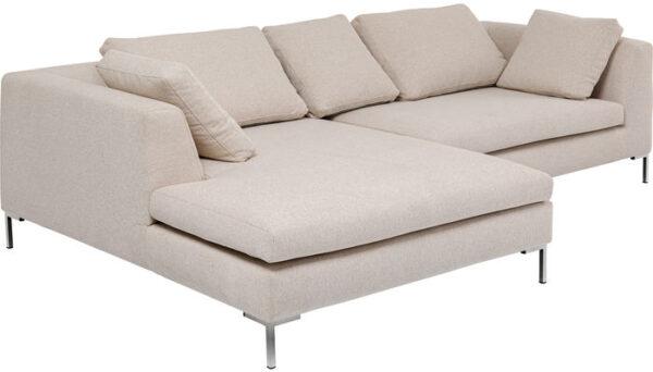 Kare Design Hoekbank Gianni Creme Left hoekbank 85492 - Lowik Meubelen