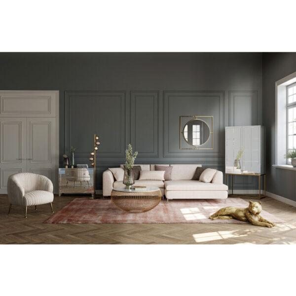 Kare Design Hoekbank Gianni Creme Right hoekbank 85491 - Lowik Meubelen