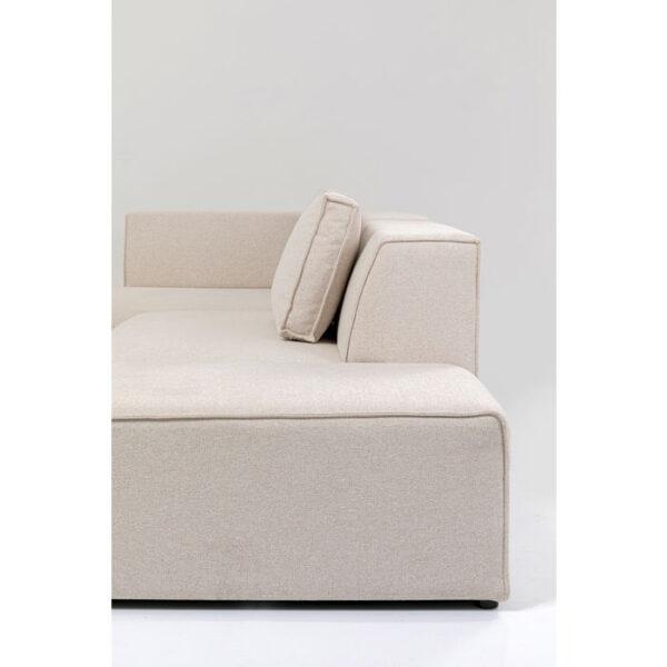 Kare Design Hoekbank Infinity Ottomane Creme Left hoekbank 85493 - Lowik Meubelen