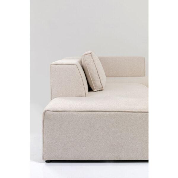 Kare Design Hoekbank Infinity Ottomane Creme Right hoekbank 85494 - Lowik Meubelen