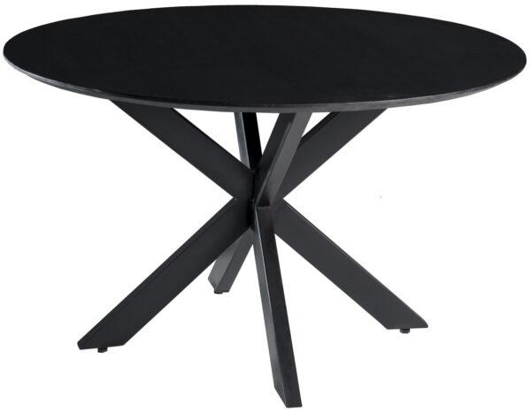 Livingfurn DT - Oslo Black Round Acasia 130 cm  Eettafels