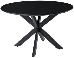 Livingfurn DT - Oslo Round Acasia Black 120 cm  Eettafels