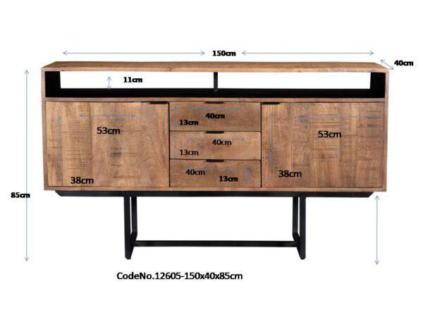 Livingfurn SID - Valdez 150 cm  Dressoirs