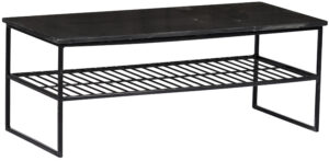 Livingfurn Salontafel Dian Marble Black Black 90cm  Salontafel