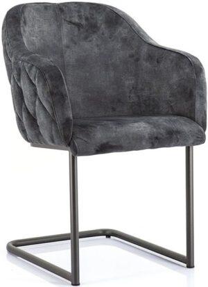 Paulette stoel - antraciet uit de Eleonora collectie