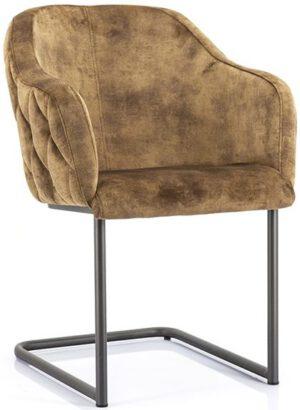 Paulette stoel - oker uit de Eleonora collectie