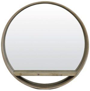 Profijt Meubel Spiegel hout licht bruin Ø56x11 cm  Woonaccessoire