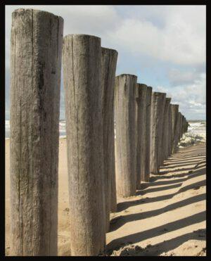 Profijt Meubel Wanddecoratie in lijst 'Shadows at the beach'  Wanddecoratie