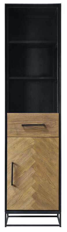 Pronto Wonen Boekenkast Veneta (49 breedte) eiken fineer zwart naturel  Kast