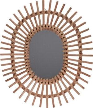 Pronto Wonen Spiegel Barcelos hout 58x49 cm naturel  Woonaccessoire