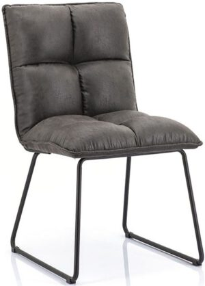 Ruby stoel - antraciet topper uit de Eleonora collectie