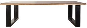 Salontafel Acacia - 120x70, uit de sfeervolle collectie van Eleonora. Eleonora staat voor trendy en origineel design met een industrieel, vintage en retro karakter. Deze prachtige salontafel is vervaardigd uit acacia hout & ijzer. Afmeting: (hxbxd) 40x120x70 cm.