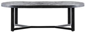 Salontafel Denzel - 140x70, uit de sfeervolle collectie van Eleonora. Eleonora staat voor trendy en origineel design met een industrieel, vintage en retro karakter. Deze prachtige salontafel is vervaardigd uit mango hout & metaal. Afmeting: (hxbxd) 45x140x70 cm.