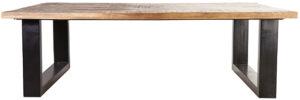 Salontafel Mango - 120x70, uit de sfeervolle collectie van Eleonora. Eleonora staat voor trendy en origineel design met een industrieel, vintage en retro karakter. Deze prachtige salontafel is vervaardigd uit mango hout & ijzer. Afmeting: (hxbxd) 40x120x70 cm.
