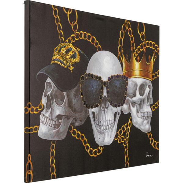 Kare Design Schilderij Canvas Skull Gang 90x120 schilderij 53166 - Lowik Meubelen