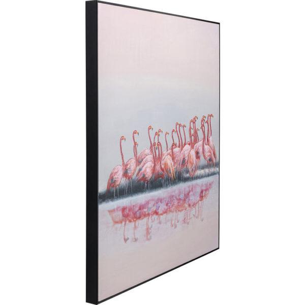 Kare Design Schilderij Framed Dating Flamingos 100x120cm schilderij 52970 - Lowik Meubelen
