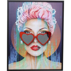 Kare Design Schilderij Framed Heart Glasses 80x100cm schilderij 52977 - Lowik Meubelen